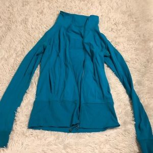Teal lululemon zip up jacket